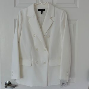 New Ellen Tracy Classic White Jacket 6